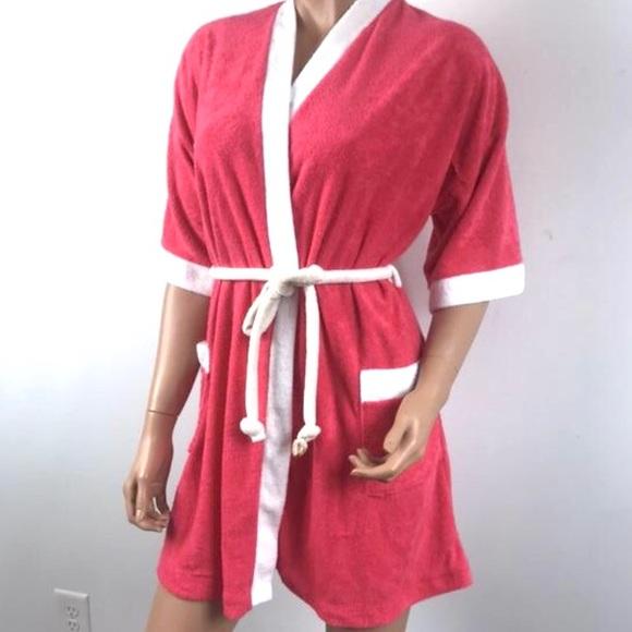 a79202207407a Vtg 70s terry cloth short kimono Robe peignoir. M_5c6eb895e944ba6068bf3cf9